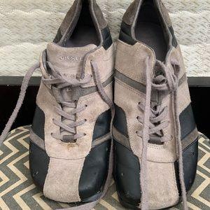 Diesel women's suede grey and black shoes